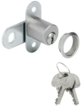 Cam Lock, with Ø 19 mm Cylinder and Key Trap