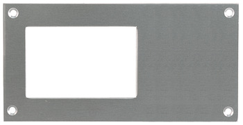 Card Frame, 150 x 75 mm, Stainless Steel or Aluminium