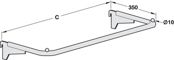 Carrier Frame, Usable Length 621-996 mm, Shoptec Shopfitting System