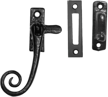 Casement Fastener, with Mortice and Hook Plate, Reversible, Malleable Iron, Kirkpatrick