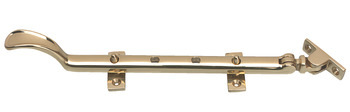 Casement Stay, with Pegs, Brass