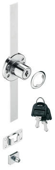 Central Locking Rotary Cylinder Lock, with Pre-Mounted 600 mm Locking Bar, Standard Profile, Econo
