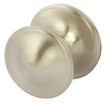 Centre Door Knob, Fixed, on Round Rose, Zinc Alloy