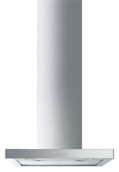 Chimney Hood, 600 mm, with Two Aluminium Grease Filters, Smeg