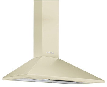 Chimney Hood, 900 mm, with Three Aluminium Grease Filters, Smeg