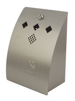 Cigarette Disposal Bin, for Wall Mounting