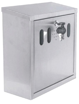 Cigarette Disposal Bin, Square, for Wall Mounting
