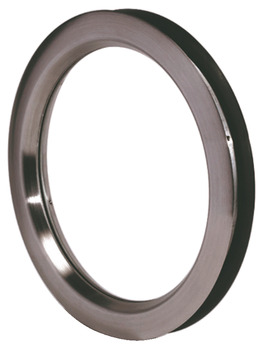 Circular Porthole Frame, for Max. 44 mm Door Thickness, Stainless Steel or Steel