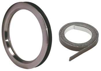Circular Vision Panel Set, Ø 250 mm, Non-Fire Rated, Stainless Steel