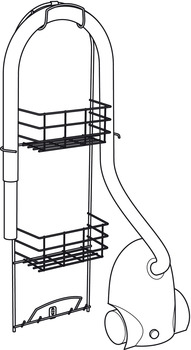 Cleaning Cupboard Rack, Height 850 mm, Width 343 mm, Depth 120 mm, Steel