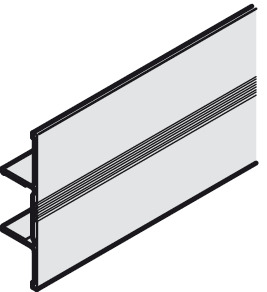 Clip Panel, for Sliding Cabinet and Wardrobe Doors, EKU-Combino 35
