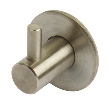 Coat Hook, Brushed Stainless Steel, 27 x Ø 35 mm