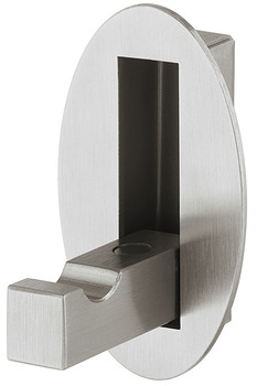 Coat Hook, Stainless Steel, 28 x 60 mm