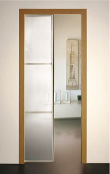 Complete Set, for 1 Door, for Sliding Interior Pocket Doors, Slido Optimo 80
