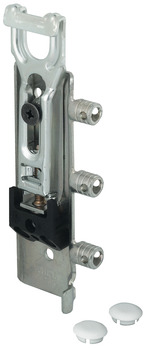 Concealed Cabinet Hanger, Press-Fit Dowels and Screw Mounting, Three-Way Adjustment