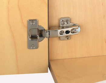 Concealed Cup Hinge, 100° Nexis, Unsprung, Half Overlay Mounting, Click on Arm, Grass Tipmatic