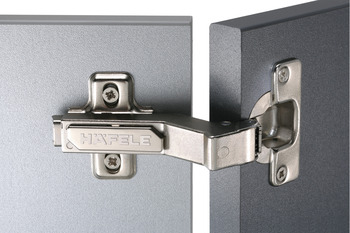 Concealed Cup Hinge, 110°, for 30° Angle Applications, Full Overlay Mounting, Häfele