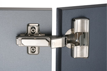 Concealed Cup Hinge, 110°, for 45° Angle Applications, with 45° Inset Mounting, Häfele