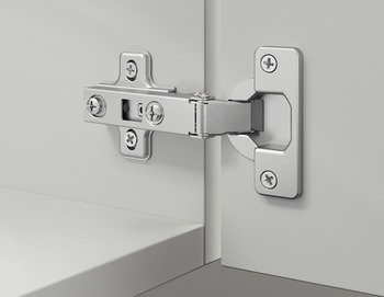 Concealed Cup Hinge, 110°, Full Overlay Mounting, Slide On Arm, Steel, Contract