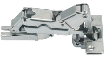 Concealed Cup Hinge, 110°, Full Overlay Mounting, Slide On/Clip On Arm, Steel
