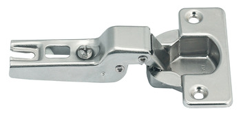 Concealed Cup Hinge, 110°, Half Overlay/Twin Mounting, Quick Snap Clip On Arm, Steel
