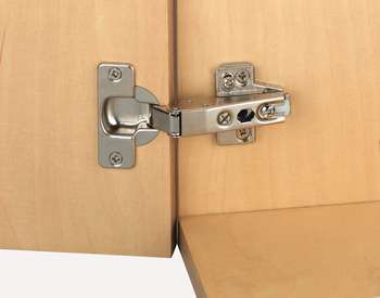 Concealed Cup Hinge, 110° Nexis, Sprung, Half Overlay/Twin Mounting, Click on Arm, Grass