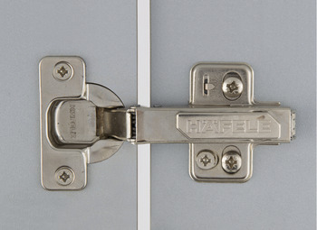 Concealed Cup Hinge, 110° Standard, Full Overlay Mounting, with Standard Depth Adjustment, Häfele