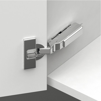 Concealed Cup Hinge, 110° Standard, Full Overlay Plus, Click on Arm, Tiomos