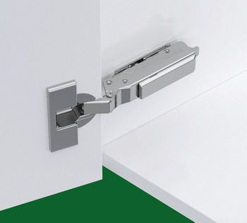 Concealed Cup Hinge, 120° Standard, Inset Mounting, Click On Arm, Tiomos