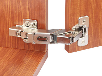 Concealed Cup Hinge, 155° Integrated Soft Close Inset Mounting, Quick Fixing, Häfele Smuso
