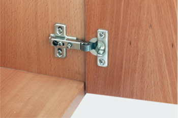 Concealed Cup Hinge, 92°, Half Overlay Mounting, with Ø 26 mm Cup, Keyhole Fixing