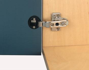Concealed Cup Hinge, 92° Nexis, Sprung, for Glass Door, Half Overlay Mounting, Grass