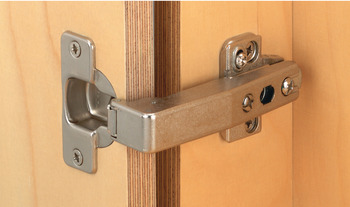 Concealed Cup Hinge, 95° Nexis Post, Unsprung, Half Overlay Mounting, Click on Arm, Grass Tipmatic