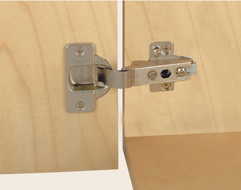 Concealed Cup Hinge, 95° Standard, Sprung with Ø 40 mm Cup, Click on Arm, Grass