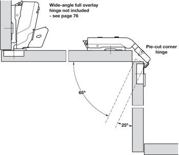 Concealed Cup Hinge Pie Cut Corner Hinge With Full Cup Drill Hole Tiomos Pcc Häfele U K Shop