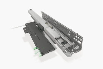Concealed Drawer Runners, Full Extension, Packed Set with 4D Fixing Clips, Dynapro Tipmatic 50 kg