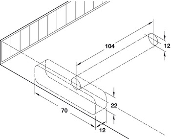Concealed Shelf Support, for Installation into Woodwork or Masonry Walls