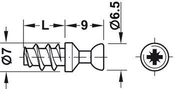 Connecting Bolt, M20, Rafix