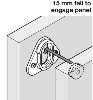 Connecting Fittings, for Parallel Panels, Button-Fix