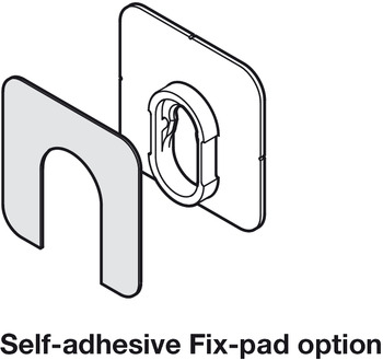 Connecting Fittings, Self-Adhesive Fix-Pad, Button-Fix