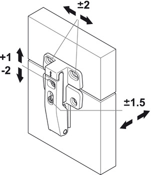 Connecting Hinge, for Free Fold