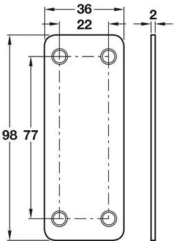 Connecting Plate, Length 98 mm