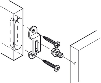 Connecting Screw, Modular, for Installation in Metal, with Self-Tapping Thread, Collared