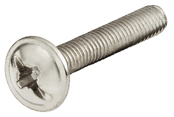 Connecting Screw, With Combi Slot for PZ2 Cross Slot or Flat-Bladed Screwdrivers, M4 Thread