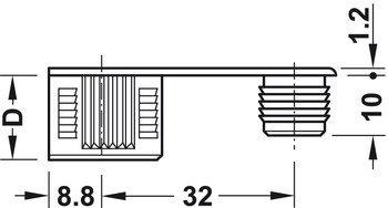 Connector Housing, Zinc Alloy, with or without Ridge, Rafix-20