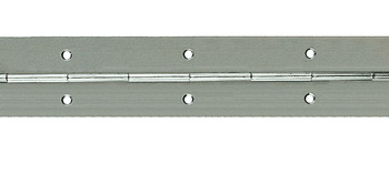 Continuous Hinge, Rolled, Straight Piano