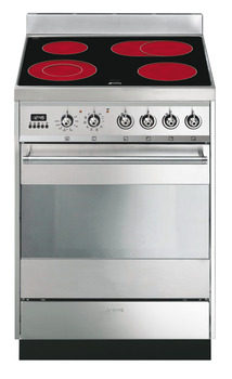 Cooker, Ceramic, with Multifunction Pyrolitic Oven, 600 mm, Smeg Symphony