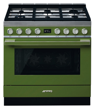 Cooker, Dual Fuel, Pyrolytic Multifunctional, Single Cavity, 900 mm, Smeg Portofino