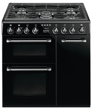 Cooker, Dual Fuel Three Cavity, Gas 900 mm, Smeg Burghley
