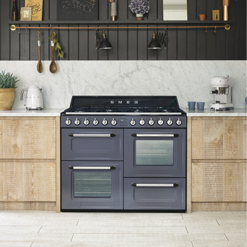 Cooker, Dual Fuel, Traditional, Four Cavity, Gas Hob, 1100 mm, Smeg Victoria